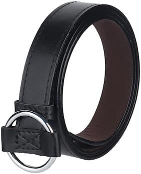 Women Synthetic Leather Belts ( Black )