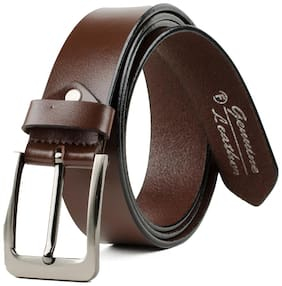 Winsome Wrinkle Free Brown Leather Belt