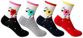 Women Multicolor Ankle Length Pack of 4 pairs Socks