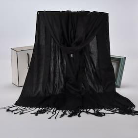 Women Pashmina Long Scarves Wrap Tassel Large Shawl Wool Blend Scarf Warm Stoles