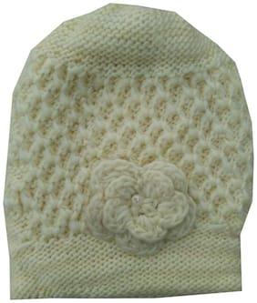 Women Wool Caps ( Cream;Multi )