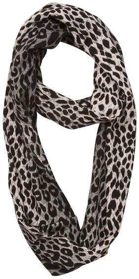 Womens Leopard Print Tie-Dye Circular Scarf