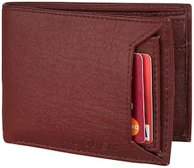 Wooden Leather Men's Wallet (Wooden_brown bacha)