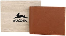 Men PU Bi-Fold;Money Clips Wallet ( Tan )