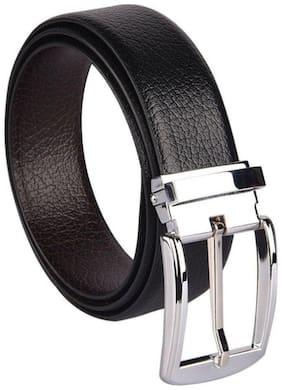 Woodland Black Faux Leather Belt