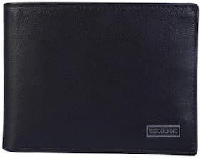 Woodland Men Black Leather Bi-Fold Wallet ( Pack of 1 )