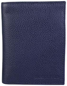 Woodland Men Navy blue Leather Bi-Fold Wallet ( Pack of 1 )