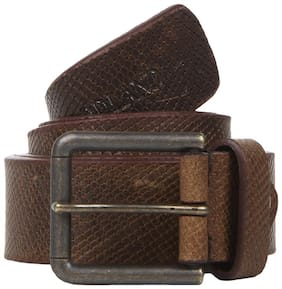 Woodland Men Brown Leather Belt (Size: 34 , Pack of 1 )