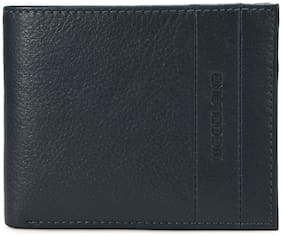 Woodland Men Navy blue Leather Bi-Fold Wallet ( Pack of 1 )