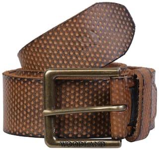 Woodland Men Tan Leather Belt (Size: 38 , Pack of 1 )