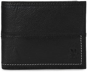 Woodland Men Black Leather Bi-Fold Wallet ( Pack of 1 )