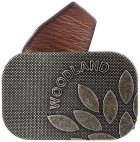 Woodland Men Tan Leather Belt (Size: 40 , Pack of 1 )