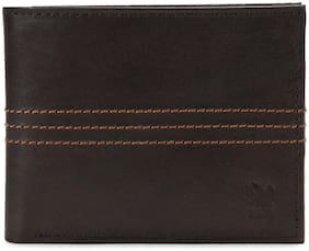 Woodland Men Brown Leather Bi-Fold Wallet ( Pack of 1 )