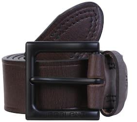 Woodland Men Brown Leather Belt (Size: 38 , Pack of 1 )