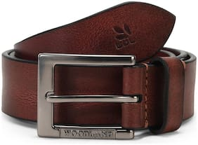 Woodland Men's Brown Leather Belt