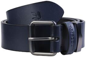 Woodland Men Blue Leather Belt (Size: 34 , Pack of 1 )