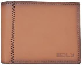 Woodland Men Tan Leather Bi-Fold Wallet ( Pack of 1 )