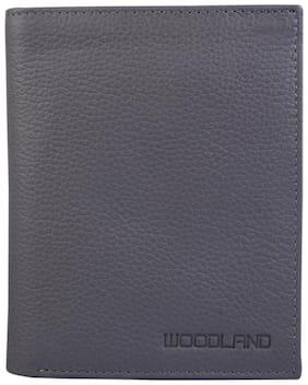 Woodland Men Grey Leather Bi-Fold Wallet ( Pack of 1 )