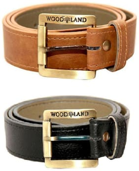 SHIVMART MENS BELT SET OF 2