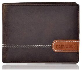 OAKS WOOD Men Pu Bi-fold Wallet - Assorted