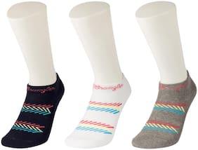 Wrangler Multicolor Cotton Low Cut Socks-Pack Of 3