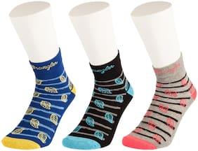 Wrangler Multicolor Cotton Ankle Socks-Pack Of 3