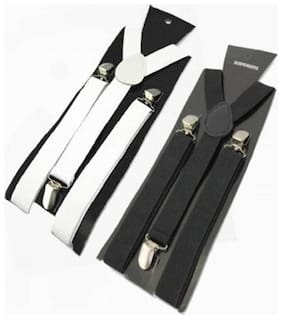 Y- Back Suspenders for Men Pack of 2 Multicolor