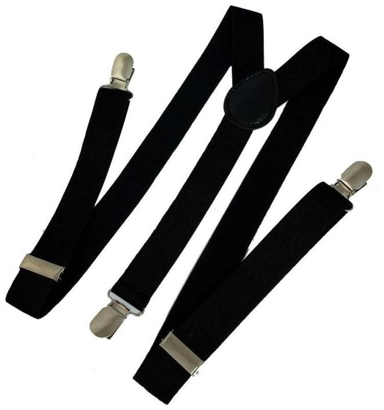 Y  Back Suspenders for Men, Boys  Black