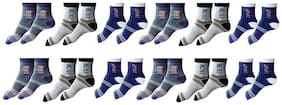 Zacharias Men's Ankle Socks Pack of 12