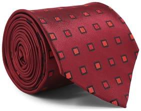 Zido Maroon Tie for Men TJQ258_Maroon