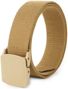 Men Canvas Belts ( Gold )