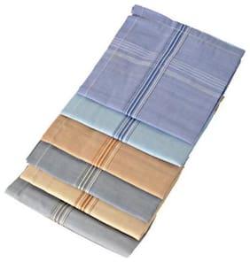 ZUKUNFT FASHION Multi Cotton Handkerchiefs ( Pack of 6 )