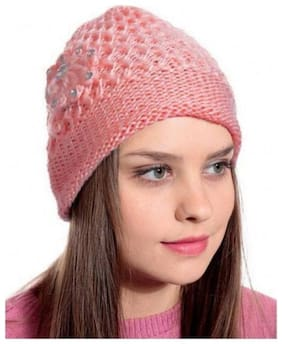 ZUKUNFT FASHION Wool Caps - Peach