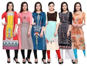 Women Printed Straight Kurta