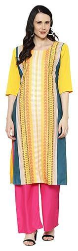 1 Stop Fashion Women Multi Striped Regular Kurta