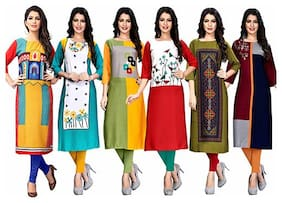 1 Stop Fashion Women Multi Printed Straight Kurta