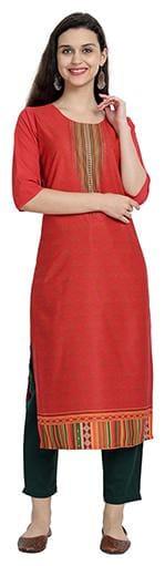 1 Stop Fashion Women Maroon Printed Regular Kurta