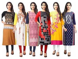 1 Stop Fashion Women Multi Printed Straight Kurta