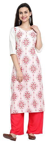 1 Stop Fashion Women White Floral Regular Kurta