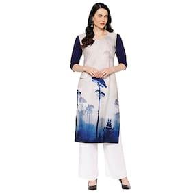 1 Stop Fashion Women White Printed Regular Kurta