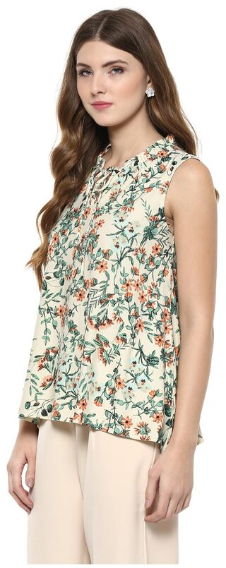 109 F  Floral Top Xxl Size