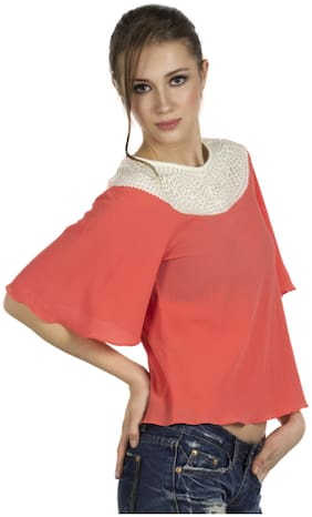 109°F Women Solid Regular top - Pink