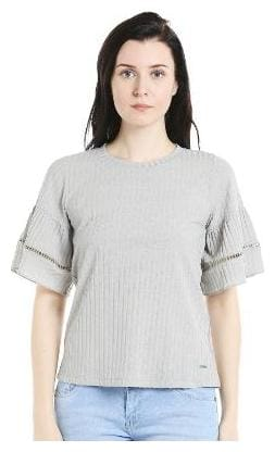 109°F Women Cotton Solid Grey