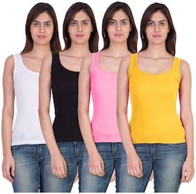 17Hills Set of 4 Premium Tank Top Vest Camisole Sando for Women;Girls