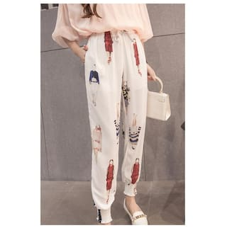 2017 Spring Autumn Womens Basics Pants Ladies Harem Pants Trousers Loose Floral Printed Pantalon Femme Lulu Leggings Girls Sweat Pants