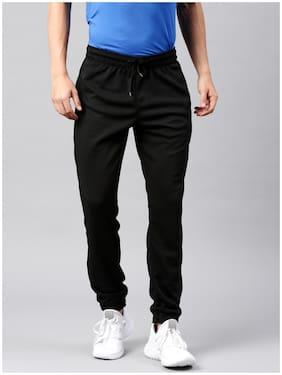 22K Men Polyester Blend Track Pants - Black