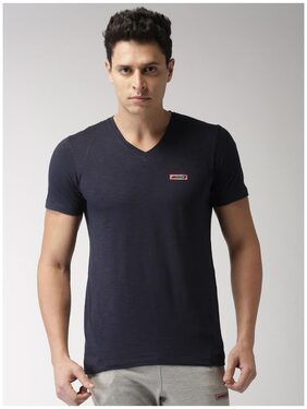 2Go Men V Neck Sports T-Shirt - Blue
