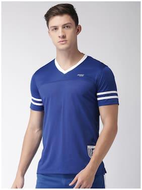 2Go Men V Neck Sports T-Shirt - Blue