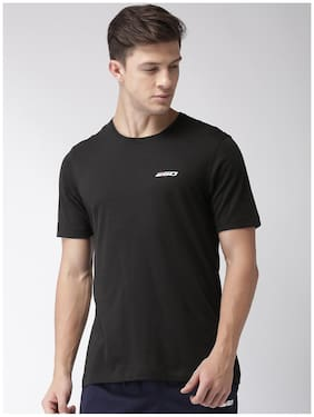 2Go Men Round Neck Sports T-Shirt - Black