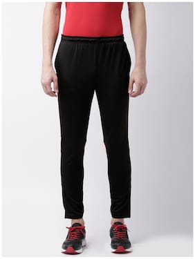 2Go Men Polyester Blend Track Pants - Black